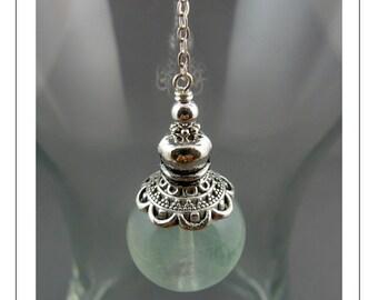 Fluorite Pendulum, Pendulum, Gemstone Pendulum, Dowsing Pendulum, Metaphysical, Intuition, Divination, Magic, Wicca, Yoga Jewelry
