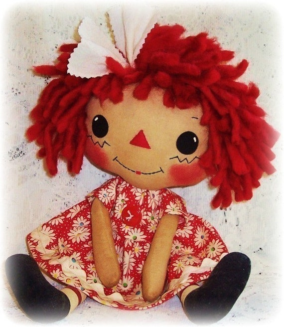 Tuch-Puppe PDF-Muster Rag Doll Schnittmuster primitive