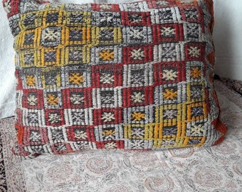 Entirely hand made ethnic cushion pillow