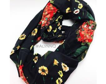 Infinity Scarf - Nursing Cover - Nursing Scarf - Floral Scarf - Breastfeeding Cover