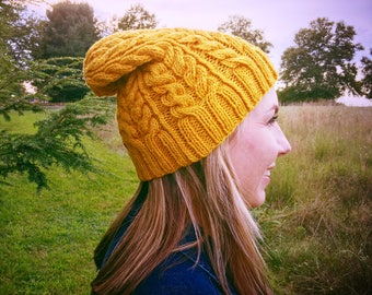Women's slouch beanie, slouch hat, fall hat women, wool hat women