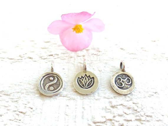 Lotus Charm For Mala Necklace, OM Charm, Add A Charm, Yin Yang Charm, Mala Bead Charms, Personalize Your Mala, Yoga Accessories