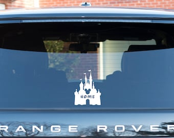 Disney Home Decal | Home | Disney | Sticker | Disney Window Sticker | Window Decal | Decal | Magic Kingdom | Castle Decal | Disney Home