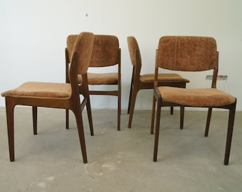 Mid Century Danish Teak Chairs, Set ff 4, 1960s