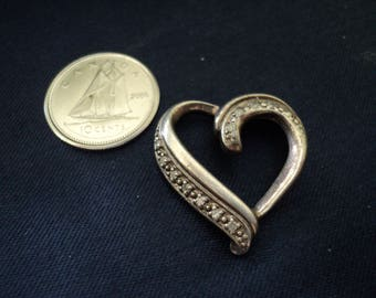 Heart Diamond Accent 3.6g Sterling Silver Pendant