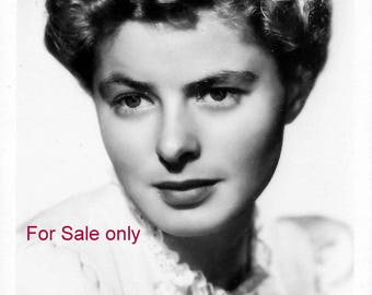 RPPC Real Photo Postcard Beautiful Ingrid Bergman 1950's Signed as shown by Gray