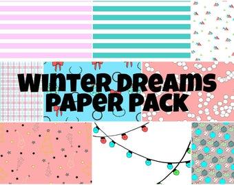 Winter Dreams Digital Paper Pack