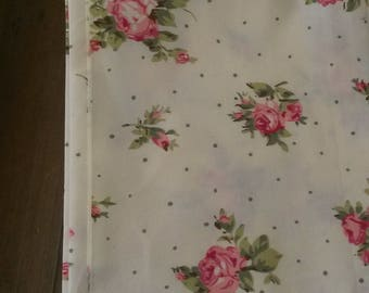 Fabric floral shabby chic / tapes old and polka dots