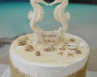 destination wedding cake toppers beach theme seashell cake topper etsy 13502