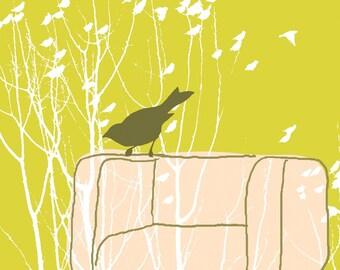 Carococo ArtPrint par Carol-Anne Pedneault / l'hiver accompagnateur fr / attente pour hiver / 8 x 10