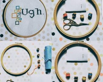 Ugh | Subversive Cross Stitch Kit