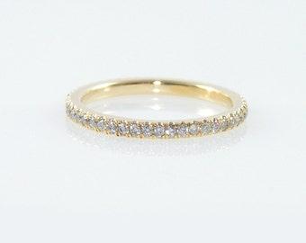 Diamond Eternity Ring with 50 diamonds total of 0.5 carat, Diamond Wedding Band, Gold Eternity Ring Diamond Eternity Ring Pave Eternity Ring
