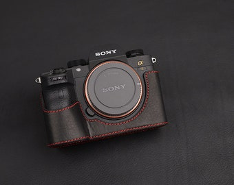 Sony A9 a7Riii A7RM3 mark 3 A7RM3 A7R3 Handmade Genuine Leather hand crafted hand stitch Camera Half cases insert bag Protector Tripod mount