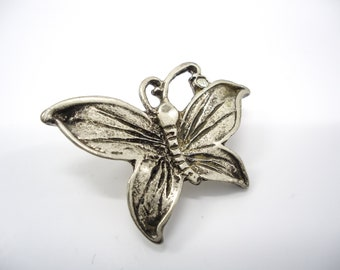 Butterfly Brooch, Vintage Butterfly Brooch, Silver Butterfly Brooch, Vintage Scarf Pin, Shawl Pin, Vintage Gift for Mom, Mothers day Gift