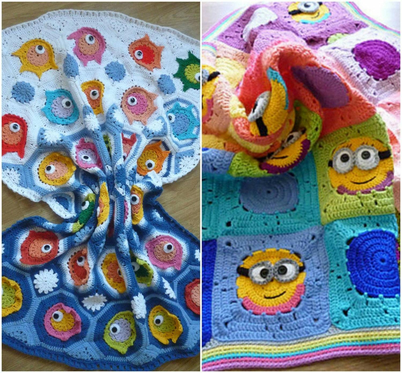 Combo pack of crochet baby blanket pattern ,crochet blanket with ...