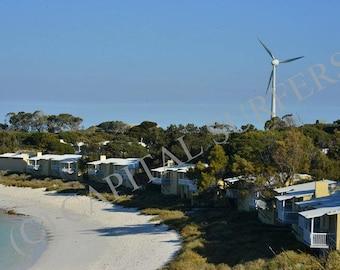 Wind Turbine - Rottnest Island, Western Australia Stock Image