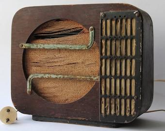 Soviet radio, Wooden radio, Vintage radio USSR, Radio speaker, Home decor, antique radio.