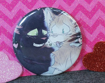 Fallen Leaves and Hollyleaf - Warrior Cats 2.25 in Pin Back Button