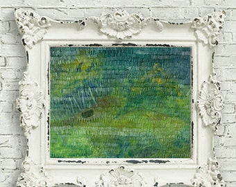 Green Abstract - Conceptual Art Print - Forest Art - Abstract Tree Print - Woods Print - Forest Through The Trees Art - Nature Painting