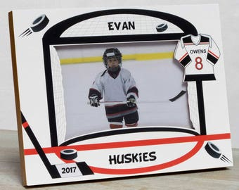 Hockey Picture Frame, Personalized Hockey Picture Frame, Kids Sports Picture Frame, Kids Hockey Frame, Sports Picture Frame For Kids, Hockey