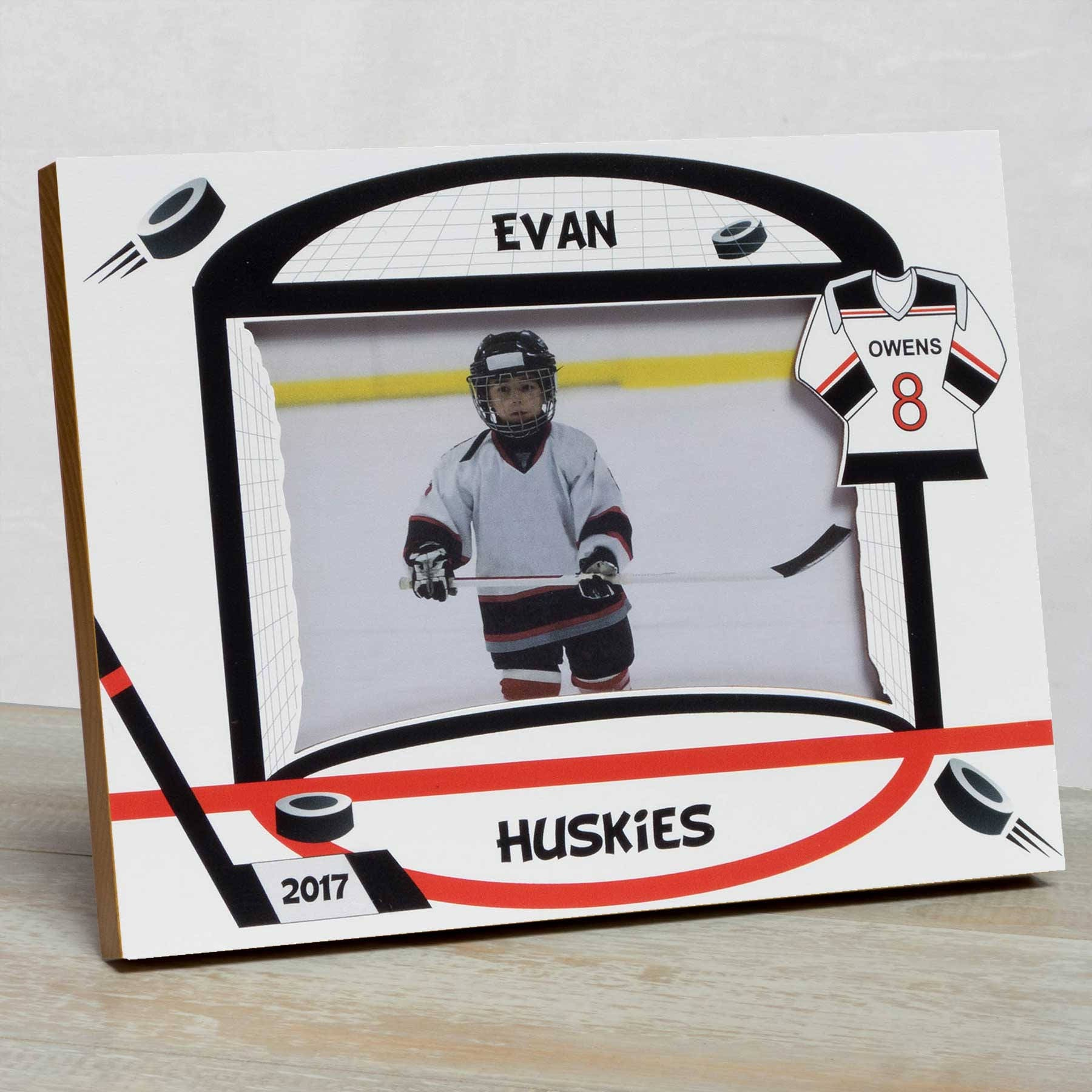 Hockey Picture Frame, Personalized Hockey Picture Frame, Kids Sports ...