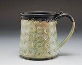 Pottery Mug Metallic Gree...