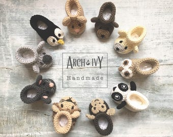 Handmade Baby Booties - Animal Booties - Crochet Booties - Baby Gift - Baby Shower Gift - Newborn Booties - New Baby Gift - Mum to be Gift