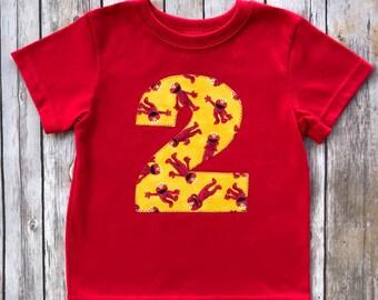 Elmo 2nd Birthday Toddler Boys Shirt 2T