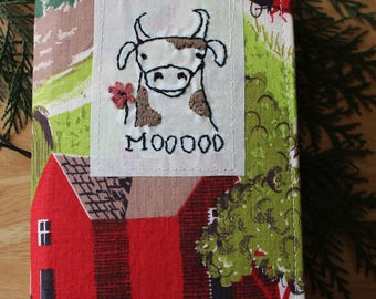 MOO - Fabric Traveler's Notebook Cover