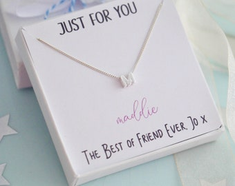 Sterling Silver Sliding Initial Necklace, Letter Necklace, Minimal Necklace, Congratulations Necklace, Layering Necklace, Birthday Gift