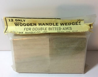 Vintage Wooden Handle Wedges for Double Bitted Axes