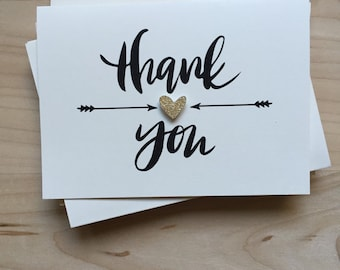 Thank You Card Set, Set of 8 Cute Thank You Cards, Bachelorette Party Thank Yous, Wedding Thank You Cards, Shower Thank You Cards