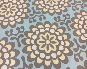 Lotus by Amy Butler for Rowan Fabrics. Wallflower in Sky blue. Out of print, hard to find. Sold by the half yard.