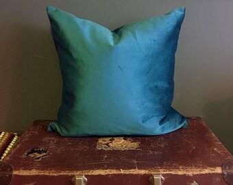 Cushion Cover   Teal Velvet   Throw Pillow   Velvet Pillow   Home Decor   Housewarming Gift   Velvet Cushion   Gifts for Her   Velvet Fabric