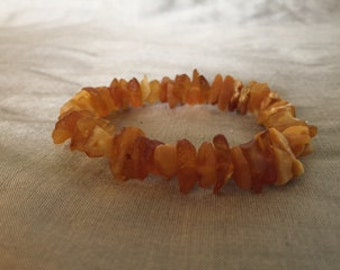 Raw amber bracelet, Baltic amber bracelet, natural bracelet, gift for her, real amber jewelry