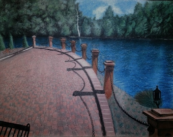 Landscape #1 pastel drawing