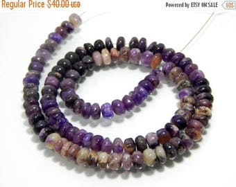 63% OFF Charoite Smooth Beads Rondelle Shape Size 5.3x6.4 mm Approx New Arrival Wholesale Price.