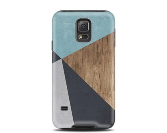 For galaxy s5 case, for Samsung galaxy s3 case, for galaxy s8 case, for s7 case, for Samsung s6 case, for galaxy case - Wood Geometric