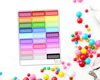 Rainbow Scallop Boxes