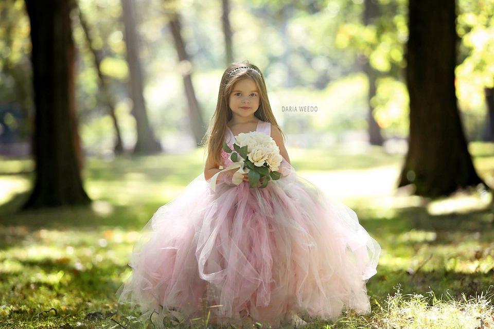 Flower girl dress tulle flower girl dress tulle dress infant flower girl dress tulle flower girl dress tulle dress infanttoddler pageant dress princess dress pink and grey dress blush dress mightylinksfo Gallery