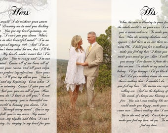 Anniversary Gift, One Year Anniversary Gift, Personalized Mr. And Mrs or His And Hers, Custom
