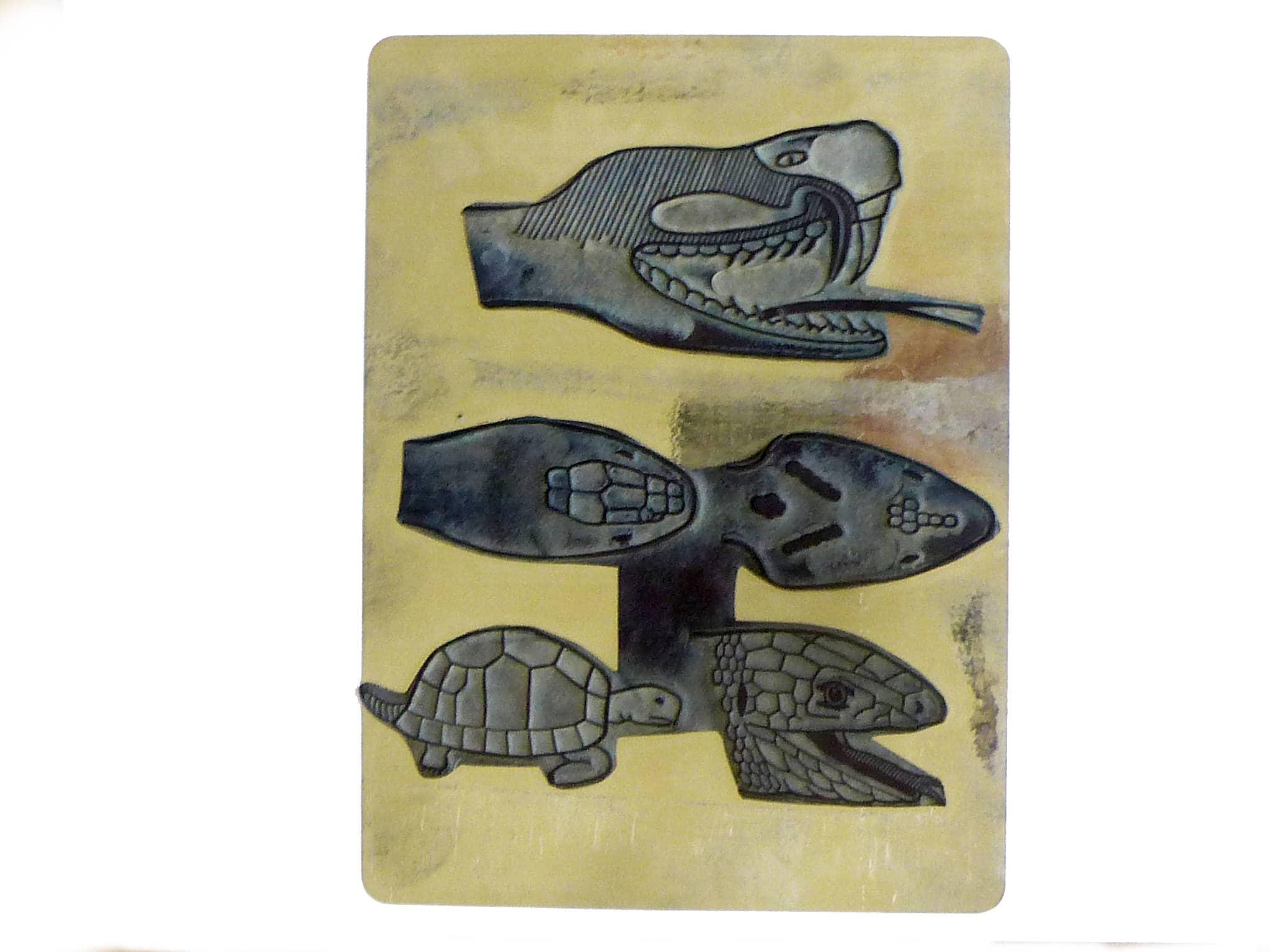 School stamp rubber vintage reptile snake Viper snake head Anatomy ...