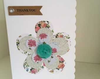 Home made thankyou flower card