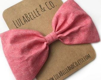 Watermelon LulaBelle Bow // Coral // Pink // Berry // Punch