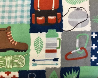 FLANNEL - Hiking Fabric - Father's Day Fabric - Manly Fabric - Camping Fabric - Wilderness Fabric - Fabric for Men - Fishing Fabric - Hikes