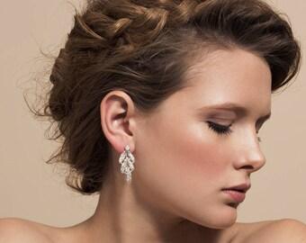 Bridal Earrings, Bridesmaid Earrings, Vintage Jewelry, Brautschmuck, Ohrringe Hochzeit, Pendiente Novia, Wedding Earrings, Orecchini Sposa