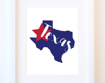 State of the Art Collection PRINT//Any State, Personalized State, Custom State Print, Gift, Wall Art Print, State Art, Housewarming Gift