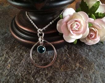 Infinity Necklace, Birthstone Necklace, Infinity Birthstone Necklace, Personalized Necklace, Birthstone Birthday Gift
