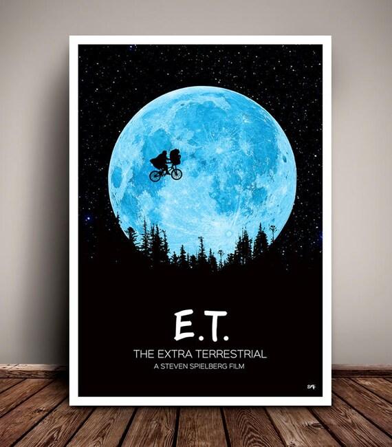 E.T. // The Extra Terrestrial // Steven Spielberg // Minimalist Movie Poster // Unique Art Print