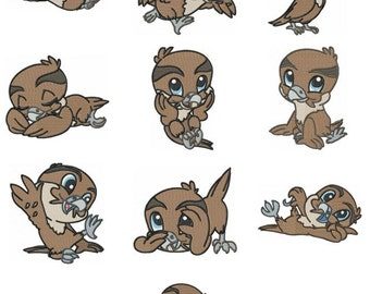 Baby Falcon Embroidery Design Zip File Download